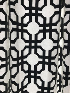 Curtain / Drapery panels - cotton, pinched pleat, fully lined