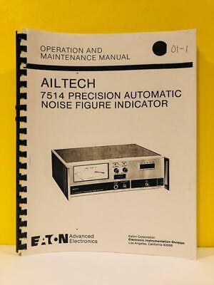 Ailtech 7514 Automatic Noise Figure Indicator Operation And Maintenance Manual