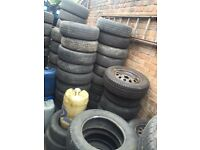 SPARE WHEELS STEEL WHEELS OR PART WORN ALL LEGAL TYRES 15INCH 4/5 STUD 14INCH 4/5 STUD 13 INCH 4/5