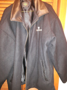 LARGE VARSITY JACKET BLACK  MENS GUINNESS JACKETS