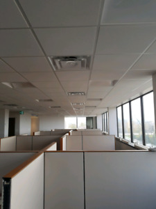 SUSPENDED DROP CEILING, T-BAR INSTALLATION 647-490-8227
