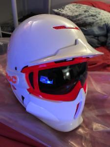 Ruroc RG-X Snowboarding Helmet w/ Ruroc Goggles - used once