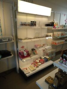 Lighted Make up Display / Rack with Specialized Shelving