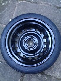 Spare Tyre and car jack kit - Nissan Micra or similar