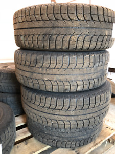 205/55/R16 MICHELIN X-ICE SNOW TIRES MOUNTED ON STEEL RIMS