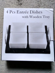 Entrée dish set with tray