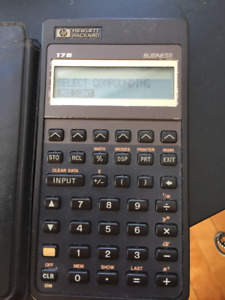 HP 17B Business Financial Programmable Calculator