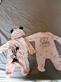 Newborn/tiny baby girls clothes