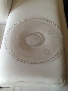 Flat glass serving tray