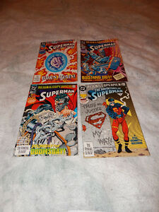 lot de 4 BD DC comics reign of the supermen