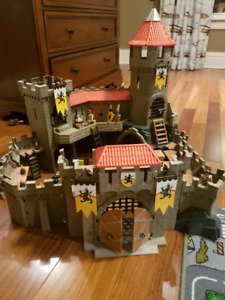 Playmobil Castle and pirate ship.....missing some pieces,
