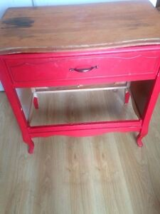 Old redone dresser into hallway table