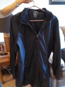 Woman's 3/4 length nylon coat