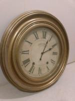 Decorative Wall Clock - gold trim circular analog 24 inches
