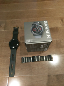 Garmin Fenix 5X Sapphire (Metal and silicone band)