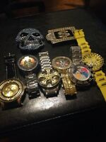 Watches and belt buckles