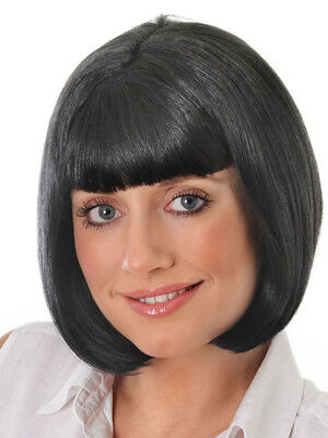 Ladies Short Black Bob Wig Pulp Fiction Mia Hollywood Fancy Dress Accessory New (Pulp Fiction Mia Halloween Costume)