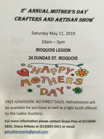 2nd Annual Mother's Day Crafters and Artisans Show
