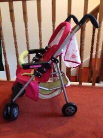 Mamas & Papas toy pram, pushchair and cot