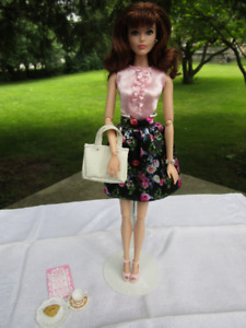 The Barbie Look TEA PARTY PERFECT Doll 2015 Brunette
