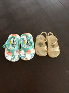Baby Girl Sandals size 0-3 months - perfect condition