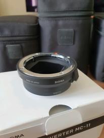 Sigma mc-11 canon to sony e mount adapter