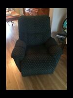 Green reclining chair for sale!