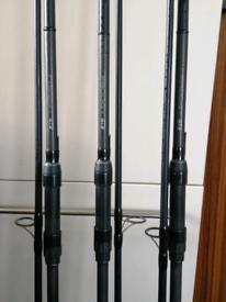 3 x Grays prodigy gt3 carp rods 3.5 tc
