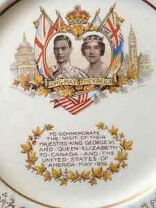 King George VI and Queen Elizabeth plate for sale