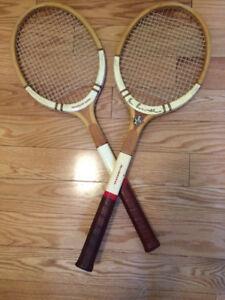 Raquettes de tennis en bois vintage