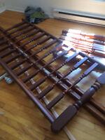 Rampe et poteaux escalier en bois 20,00