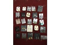 Joblot earrings x25 new car boot/resell/xmas/gifts