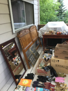 Moving sale.  July 20-22