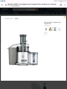 "Breville extracteur a jus/ juice extractor ""juice fountain plus"""