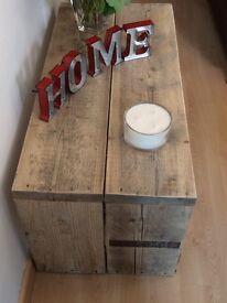 Handmade reclaimed wood tables