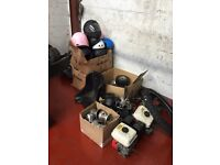 GO KART SPARES AND HELMETS RACE WARE