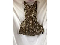 (Brand New) Gold Sequin Party Dress