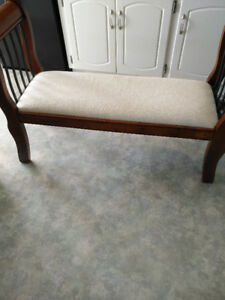 Upholstered hall bench