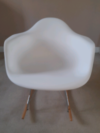 Modern White Rocking Chair