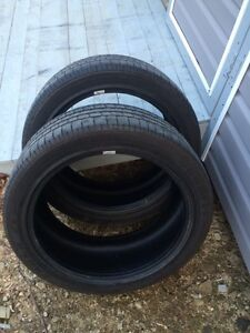 Two 245/45ZR-20 Goodyear tires