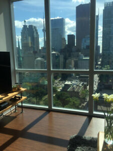 1+1 corner unit VU Condo high floor 750 sq.ft. parking, locker