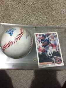 Paul Molitor 1993 O-Pee-Chee signed with 1993 World Series Ball