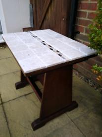 Oak Magazine coffee side Table Tiled