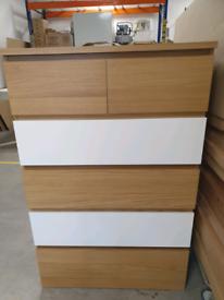 MALM, Chest of 6 drawers, custom colours, 80x123 cm, WAS £99 #BargainC
