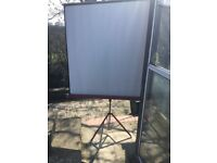 Projector screen.