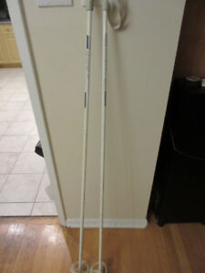 Cross Country Ski Poles:  145cm with straps