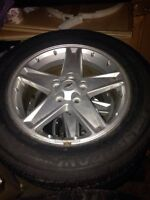 "Four 17"" Chevy Equinox Tires With Steel Rims!!"