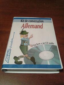 RARE ! Kit de conversation allemand Assimil, 1 livre + 1 CD.