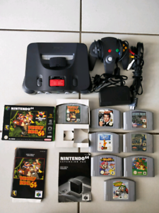 Nintendo 64 N64 with 1 controller, 8 games and expansion pak