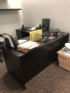 BROWN OFFICE DESKS FOR SALE - 2 IN STOCK - BOTH MUST GO ASAP!!!
